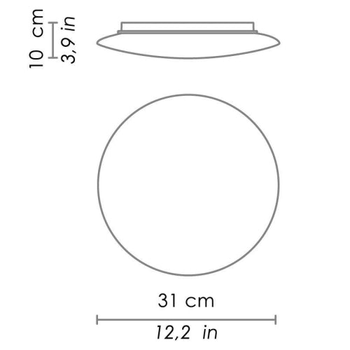 Bis Wall/Ceiling Light Small