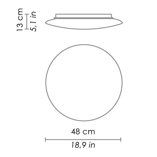 Bis Wall/Ceiling Light Large