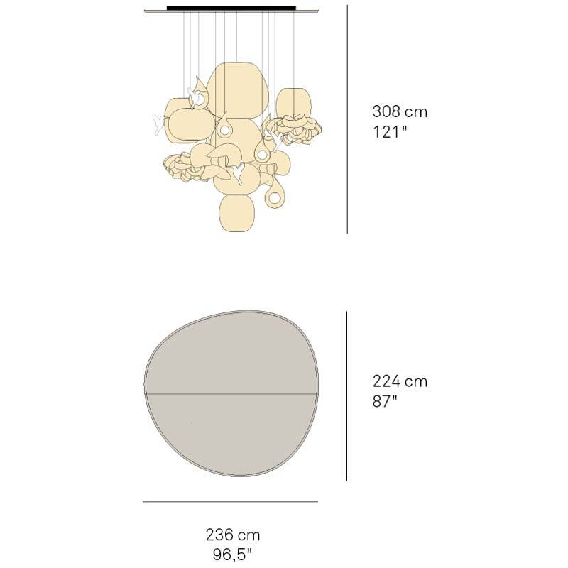 Candelabro Large Chandelier by LZF