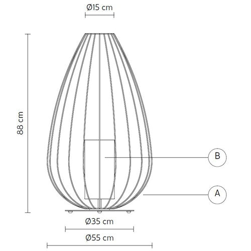 Cell Large Floor Lamp by Karman