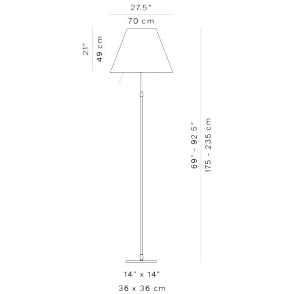 Grande Costanza Floor Lamp with On/Off Switch by Luceplan