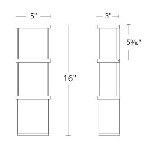 Elevation LED Outdoor Wall Sconce Small