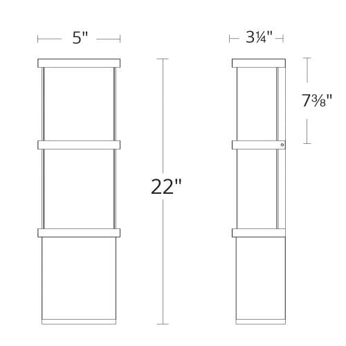 Elevation LED Outdoor Wall Sconce Large