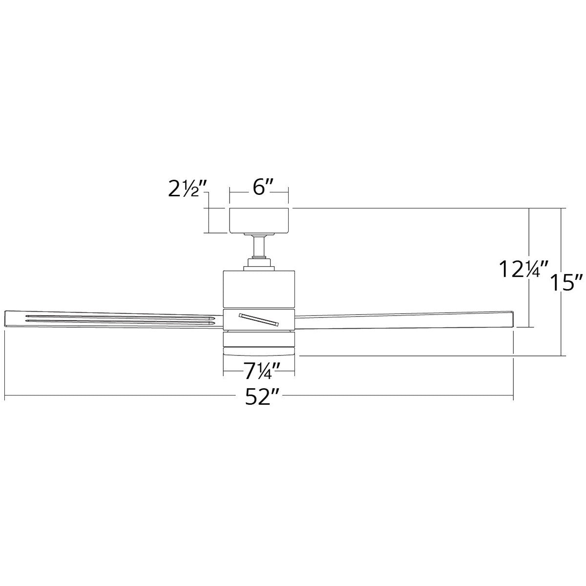 Axis 52 Ceiling Fan Specifications