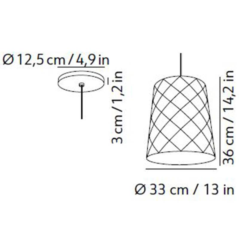 New York Pendant Small Specifications