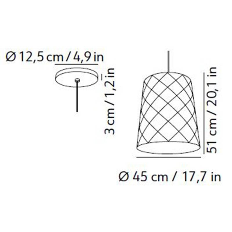 New York Pendant Large Specifications