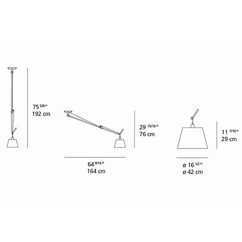 Tolomeo Off-Center Suspension w/Shade Large