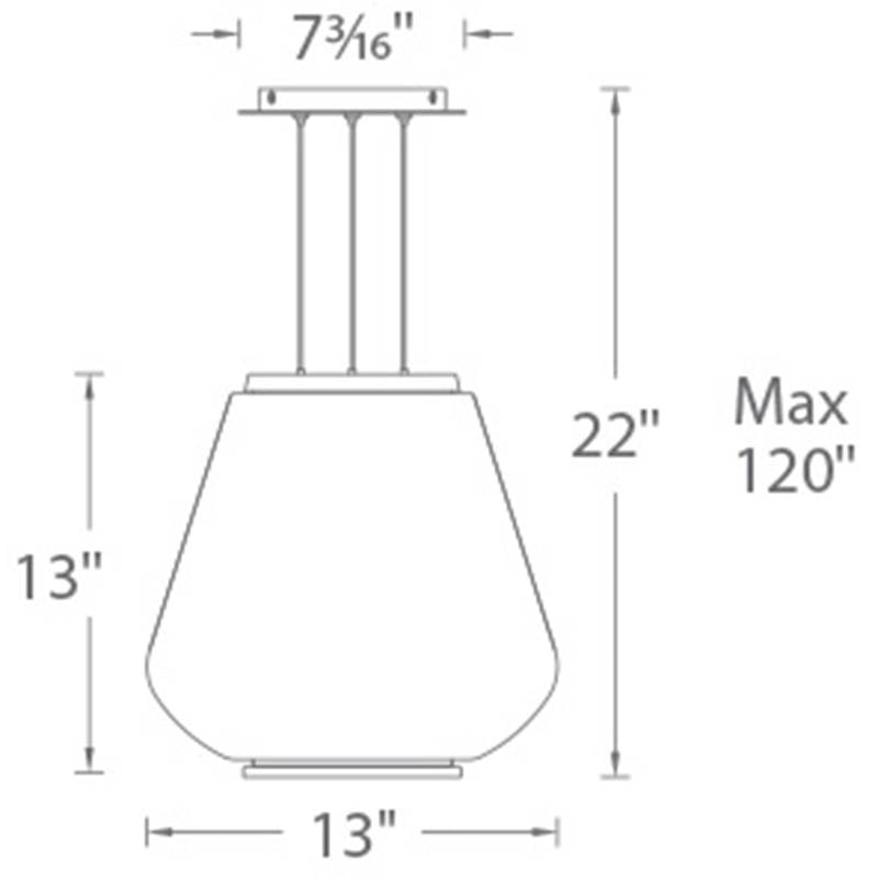 Dynamo LED Pendant Specifications