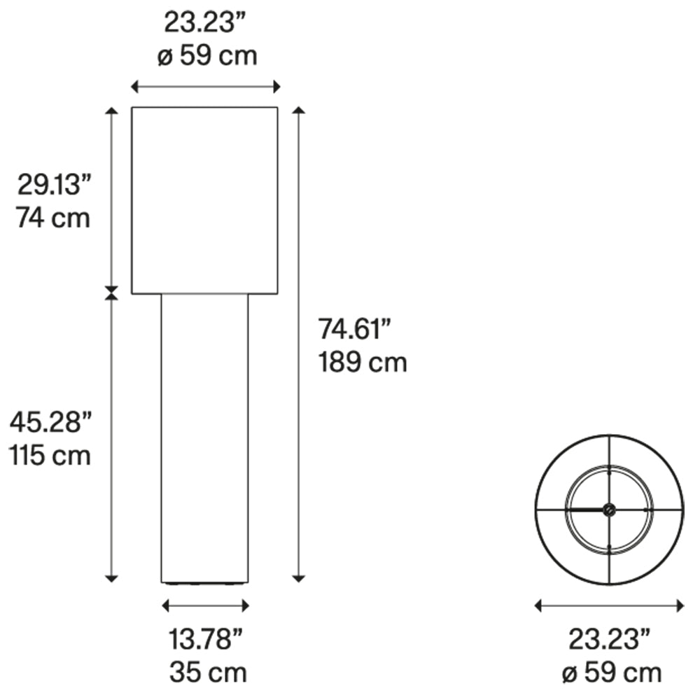 Pipe Large Floor Lamp Specifications