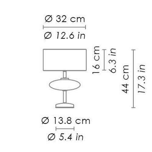 Show Ellipse Table Lamp Small