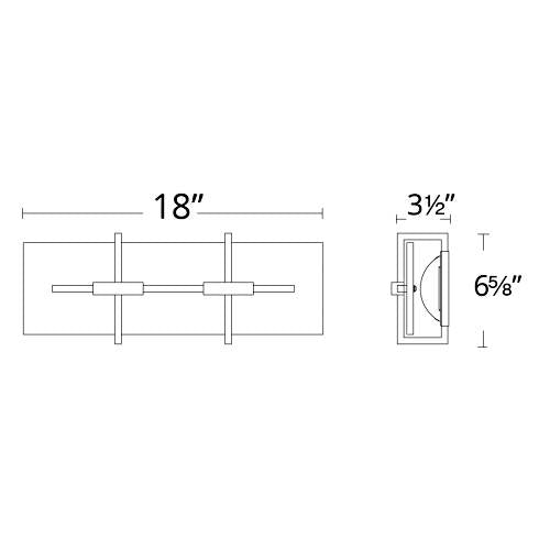 Seismic LED Wall Sconce Small