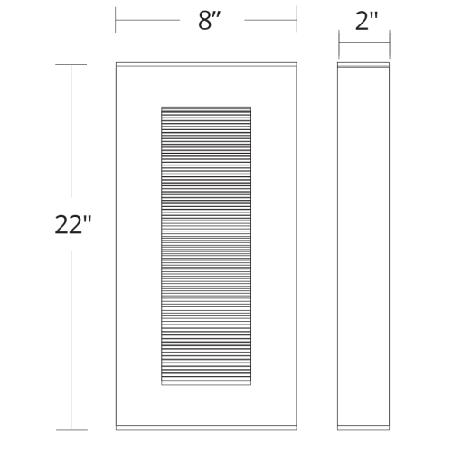 Urban LED Outdoor Wall Sconce Large