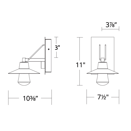 Suspense LED Outdoor Wall Sconce Small
