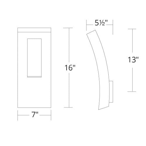 Dawn LED Outdoor Wall Sconce Small