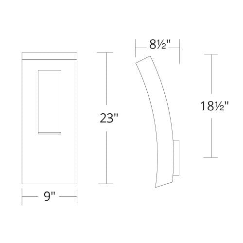 Dawn LED Outdoor Wall Sconce Large