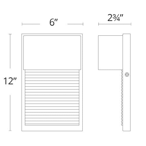Hiline LED Outdoor Wall Sconce Medium