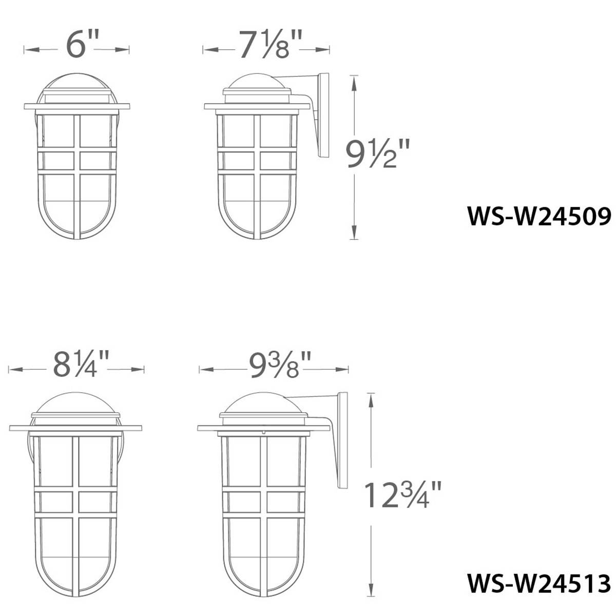 Steampunk LED Indoor/Outdoor Wall Sconce Specifications