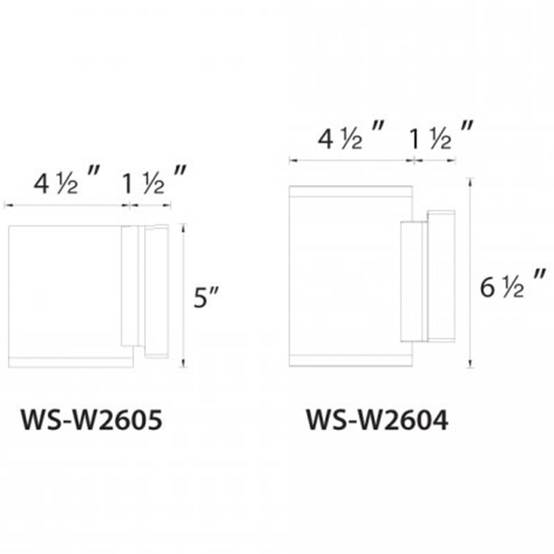 Tube Indoor/Outdoor LED Wall Sconce Specifications