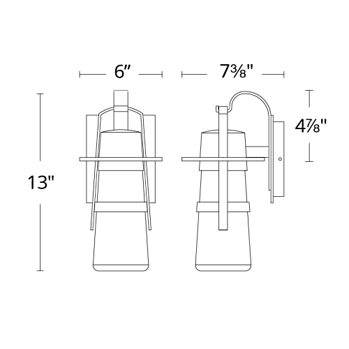 Balthus LED Indoor/Outdoor Wall Sconce Small
