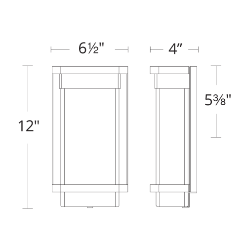 Vitrine LED Outdoor Wall Sconce Small