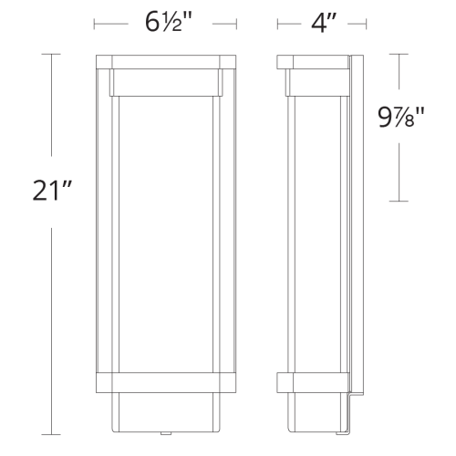 Vitrine LED Outdoor Wall Sconce Large
