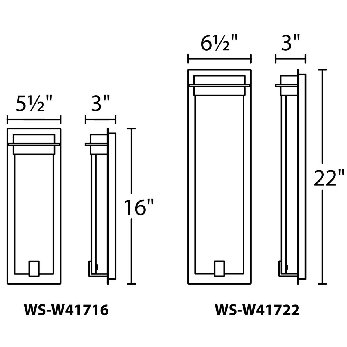 Spa Outdoor Wall Sconce Specifications