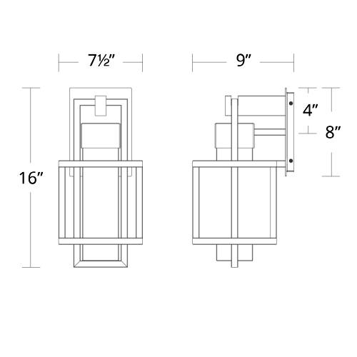 Logic Indoor/Outdoor Wall Sconce Small