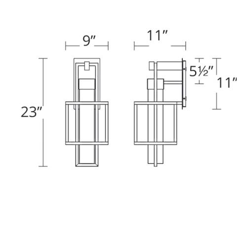 Logic Indoor/Outdoor Wall Sconce Large