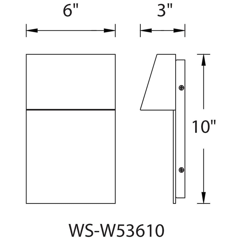 Zealous Outdoor Small Wall Sconce Specifications