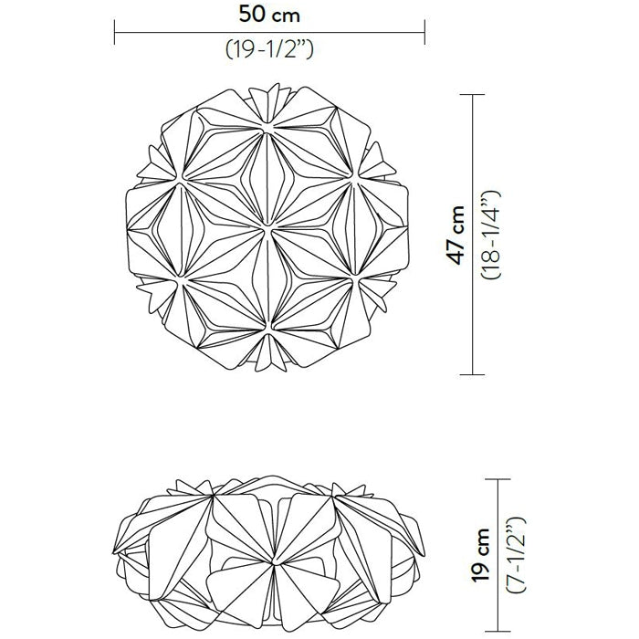 La Vie Wall/Ceiling Light Specifications