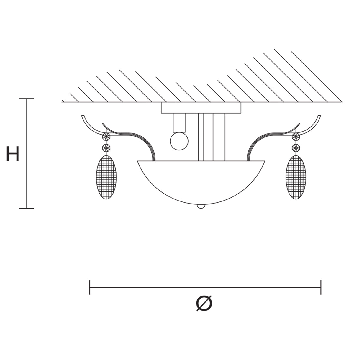 Isbel PL 6 Ceiling Lamp Specifications