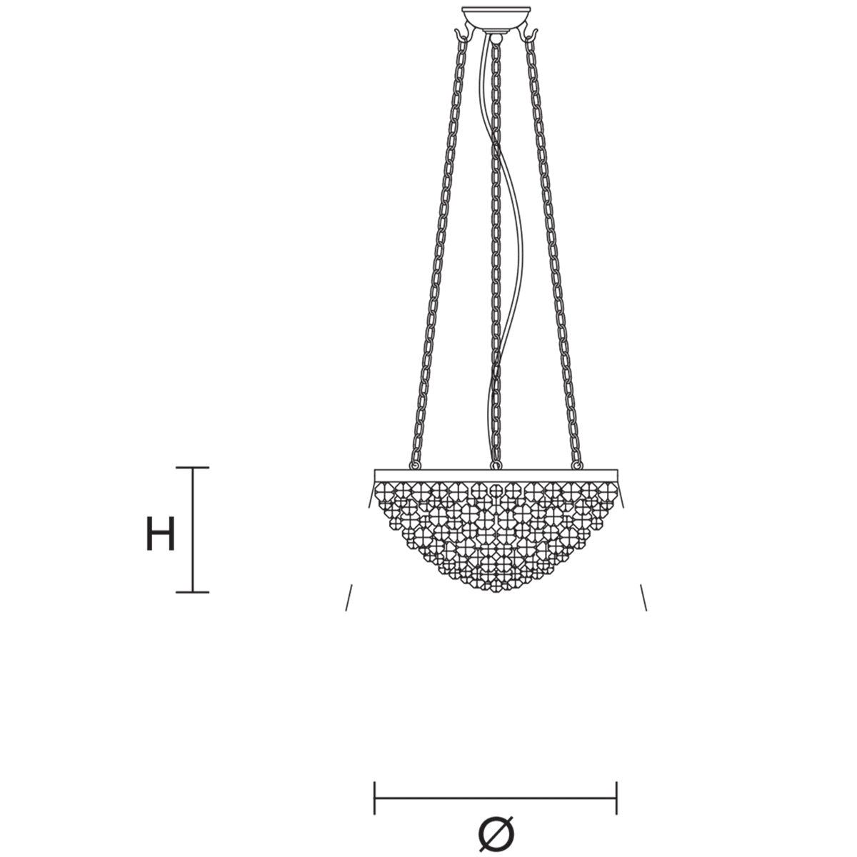 Rosemery 2 Suspension Lamp Specifications
