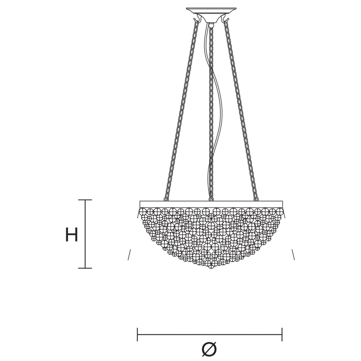 Rosemery 4 Suspension Lamp Specifications