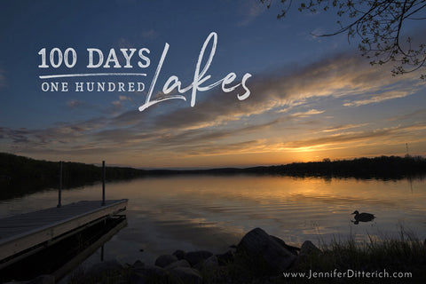 100 Days 100 Lakes by Jennifer Ditterich Designs