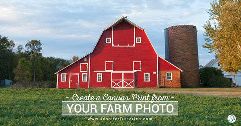 Create the Perfect Canvas Print from Your Farm Photo by Jennifer Ditterich Designs