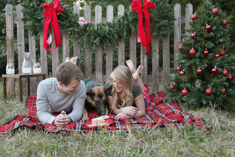 Absolutely Bositively Christmas photo with dog