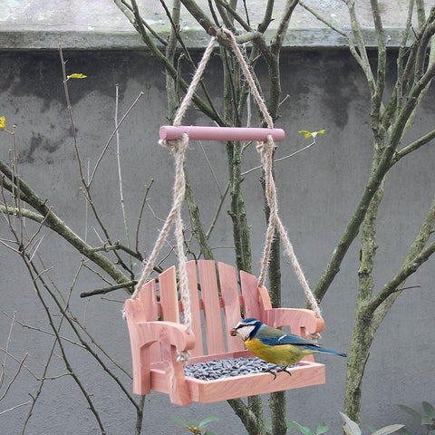 Adirondack chair bird feeder