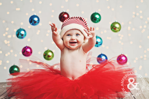 Baby Haddie Christmas photo by Ampersand Studios