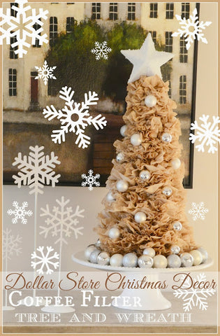 DIY Coffee Filter Tree and Wreath