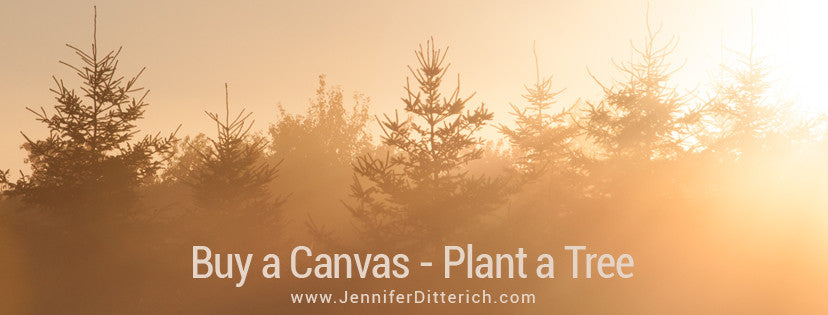 Buy a Canvas Plant a Tree Program by Jennifer Ditterich Designs