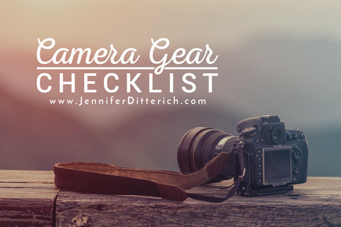 Camera Gear Checklist