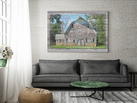 Century Farm Custom Canvas Print by Jennifer Ditterich Designs