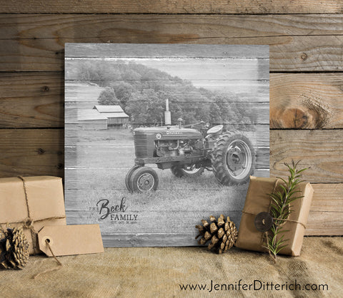 Family Tractor Canvas Print by Jennifer Ditterich Designs