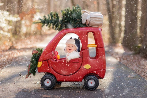 Cozy Coupe Christmas photo by Clearly Perceived Photography