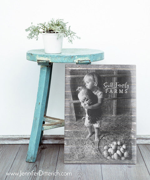 Farmers Daughter with Chicken Canvas Print by Jennifer Ditterich Designs