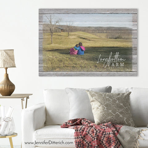 Countryside Print of Two Little Girls by Jennifer Ditterich Designs