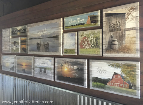 Canvas Prints in Gallery Wall by Jennifer Ditterich Designs
