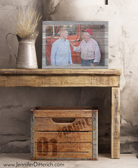 Grandfather and Grandson Farming Heritage Personalized Print by Jennifer Ditterich Designs