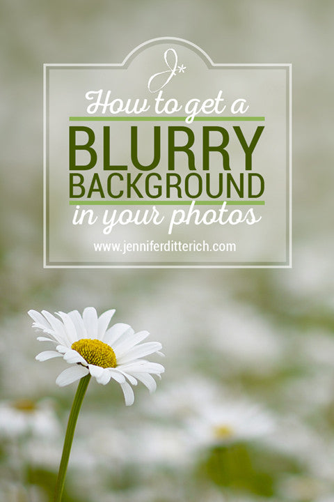 How to get a blurry background in your photos by Jennifer Ditterich Designs