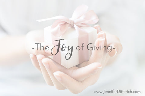 The Joy of Giving by Jennifer Ditterich Designs